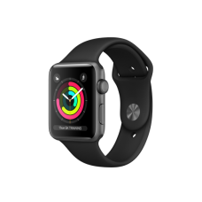 Apple Watch Series 3 42mm (GPS) Space Gray Aluminum Case with Black Sport Band (MTF32)