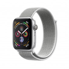 Apple Watch Series 4 (GPS) 40mm Silver Aluminum w. Seashell Sport Loop