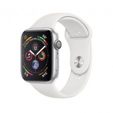 Apple Watch Series 4 (GPS) 44mm Silver Aluminum w. White Sport Band (MU6A2)