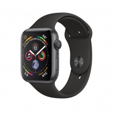 Apple Watch Series 4 (GPS) 40mm Space Gray Aluminum w. Black Sport Band