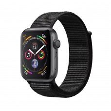 Apple Watch Series 4 (GPS) 40mm Space Gray Aluminum w. Black Sport Loop (MU672)