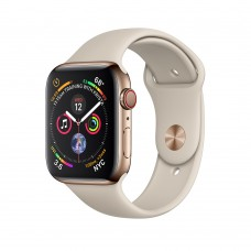 Apple Watch Series 4 (GPS+Cellular) 40mm Gold Stainless Steel Case w. Stone Sport Band