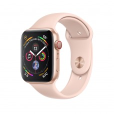 Apple Watch Series 4 (GPS+Cellular) 40mm Gold Aluminum w. Pink Sand Sport Band
