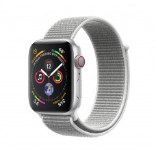 Apple Watch Series 4 (GPS+Cellular) 40mm Silver Aluminum w. Seashell Sport Loop (MTUF2)