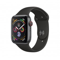Apple Watch Series 4 (GPS+Cellular) 40mm Space Gray Aluminum w. Black Sport Band (MTVD2)