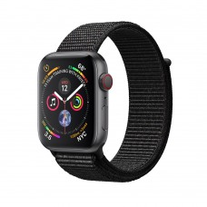 Apple Watch Series 4 (GPS+Cellular) 40mm Space Gray Aluminum w. Black Sport Loop (MTVF2)