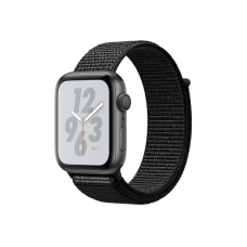 Apple Watch Series 4 Nike+ 44mm GPS Space Gray Aluminum Case with Black Nike Sport Loop (MU7J2)